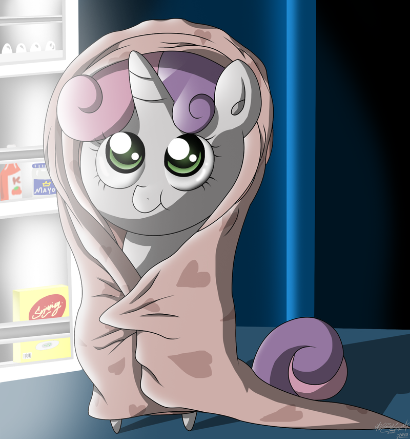 MiniPoni #14 Sweetie Belle - Midnight Snack by ZSparkonequus