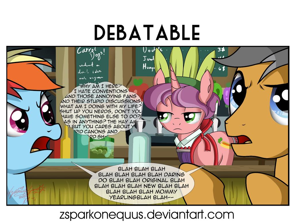 Comic 80: Debatable by ZSparkonequus