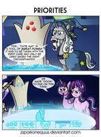 Comic 104: Priorities by ZSparkonequus