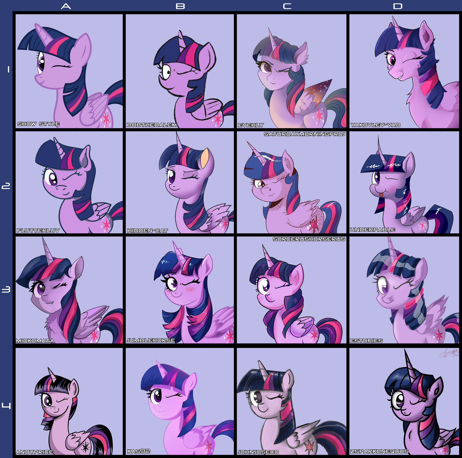 Twilight Styles 1 by ZSparkonequus