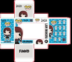 Lain Iwakura Funko Pop Box Concept by ZSparkonequus