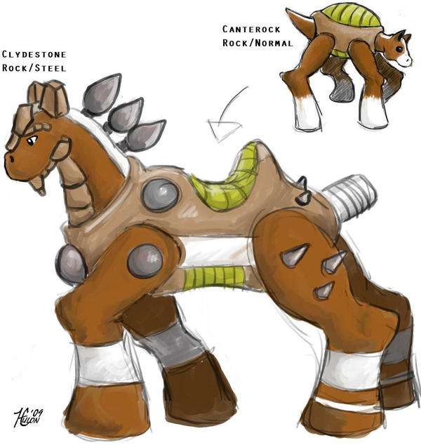 Fakemon: Rock Horse Pokemon by OTC-Hulon