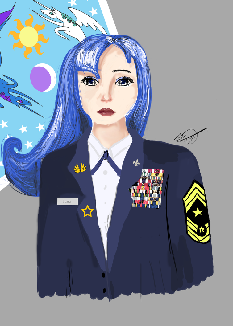 Commander of Equestrias Air Force Luna by Spaceisthelimit