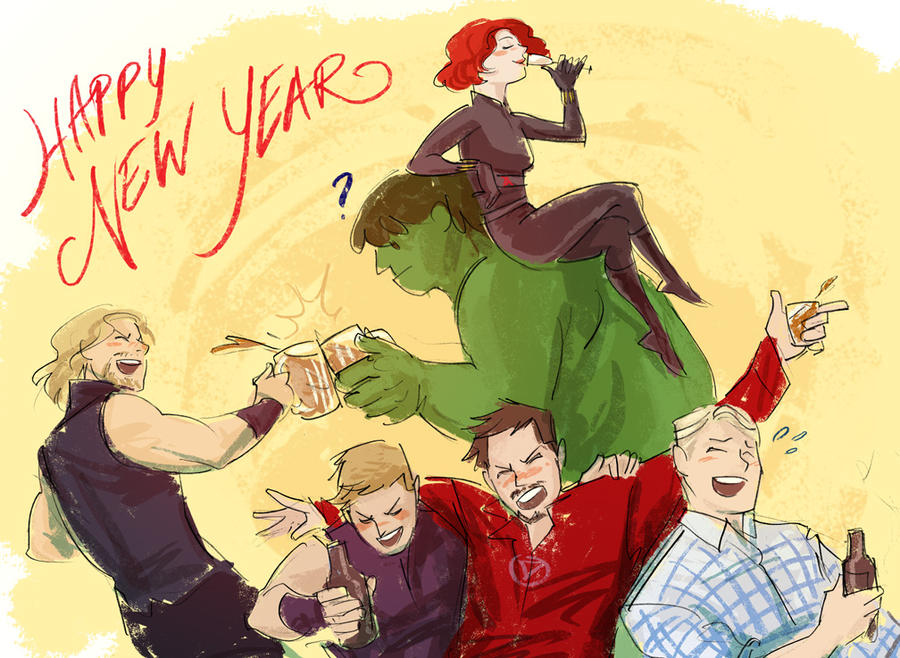 Image result for Happy New Year Avengers