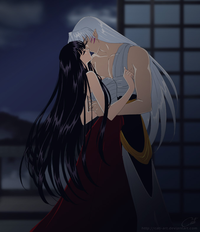 Kikyo And Kagome Lesbian Kiss Sex: Closing The Distance Between Us By Cati-Art On