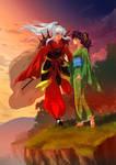 Commission - Daiyoukai Inuyasha and Kagome