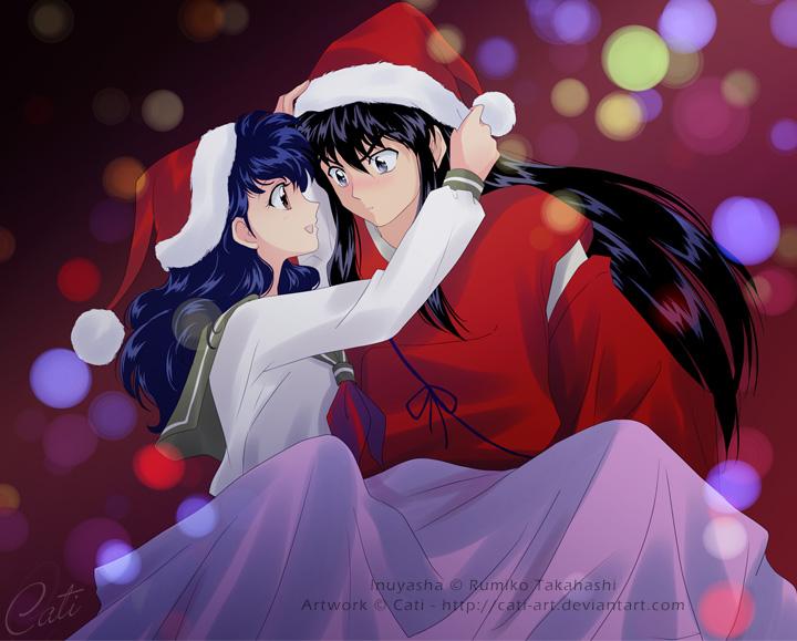 InuKag - A Warm Christmas Eve by Cati-Art on DeviantArt