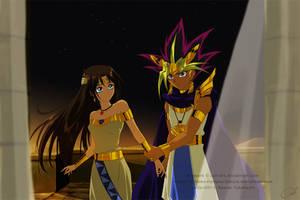 Commission - OC Hathor and Atem by Cati-Art