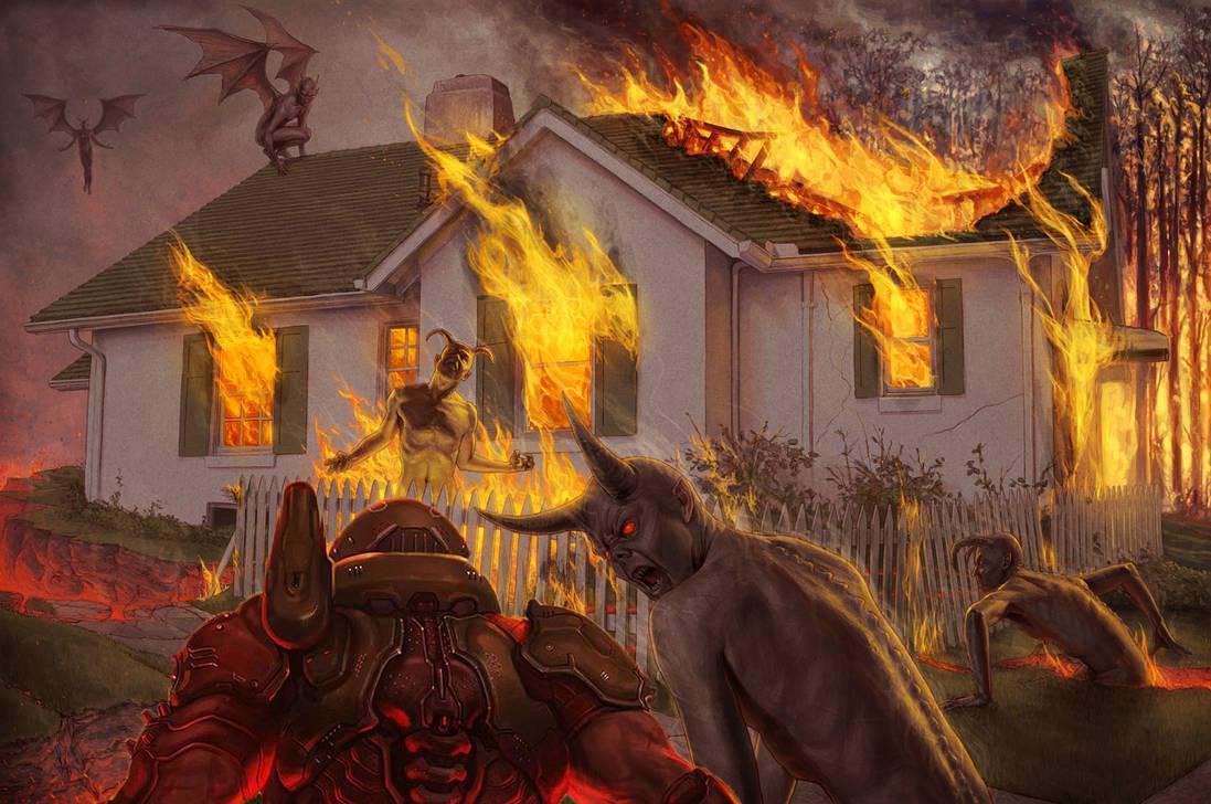 Doom Slayer vs Demons