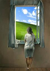 Woman At The Window - Windows XP Edition