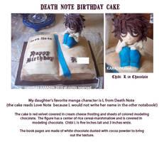Death Note Birthday Cake by karadin