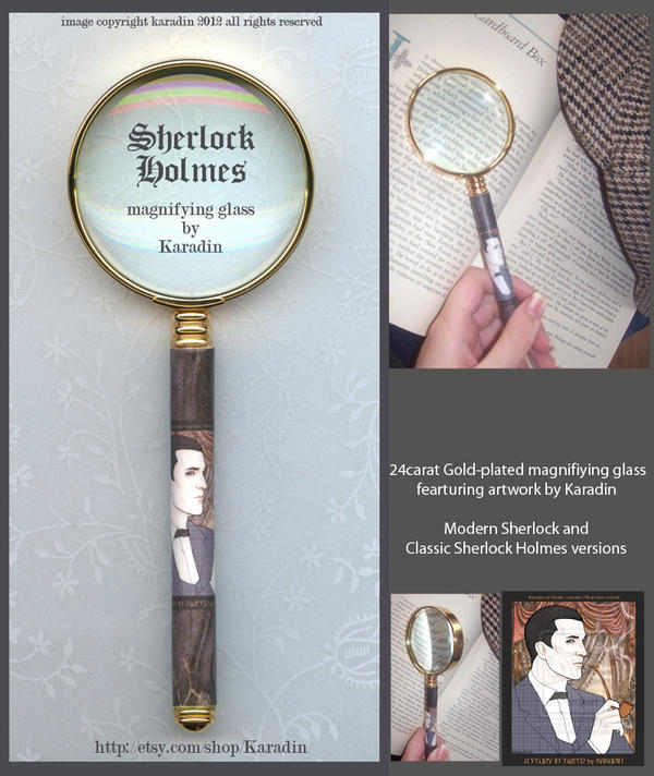 Classic Sherlock Holmes Magnifying Glass by karadin