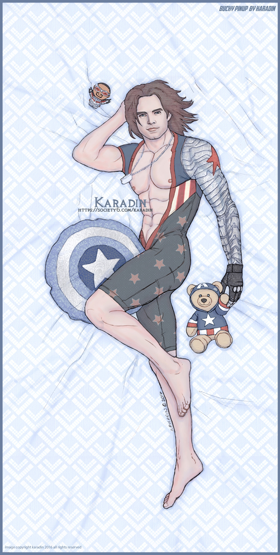 Bucky Barnes/Winter Soldier Pinup by karadin