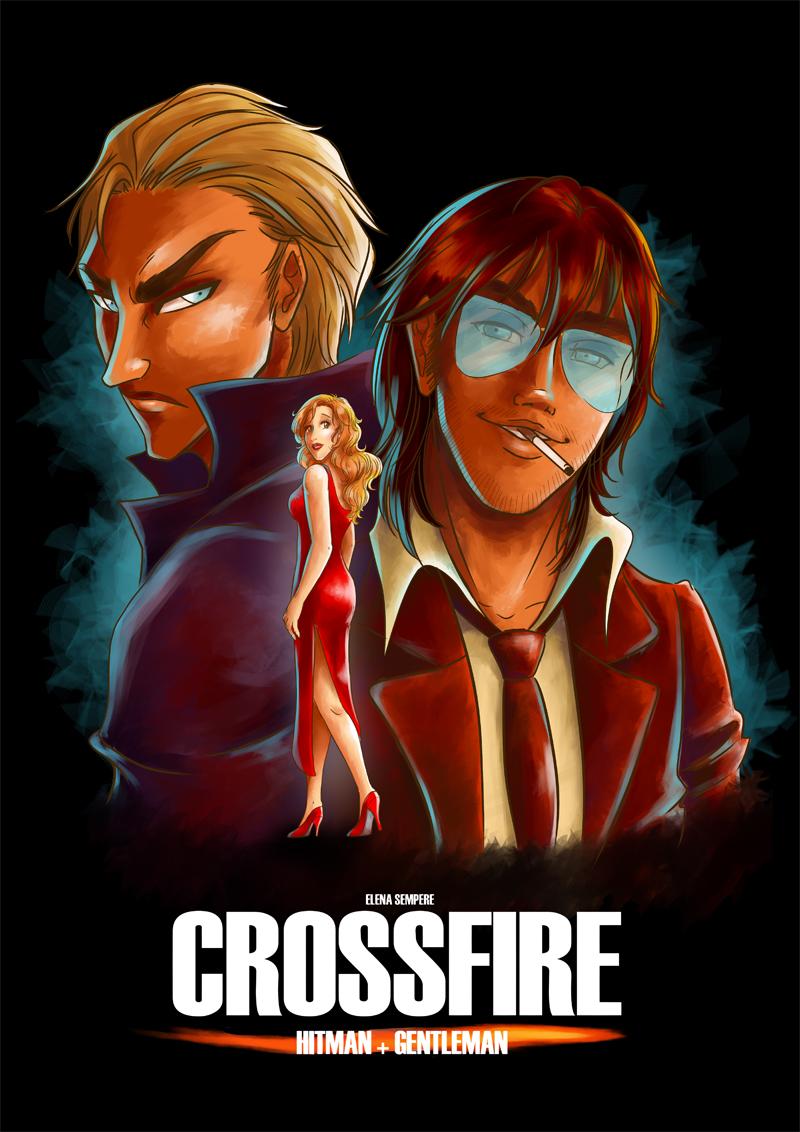 Crossfire (Postcard) by Fidjie