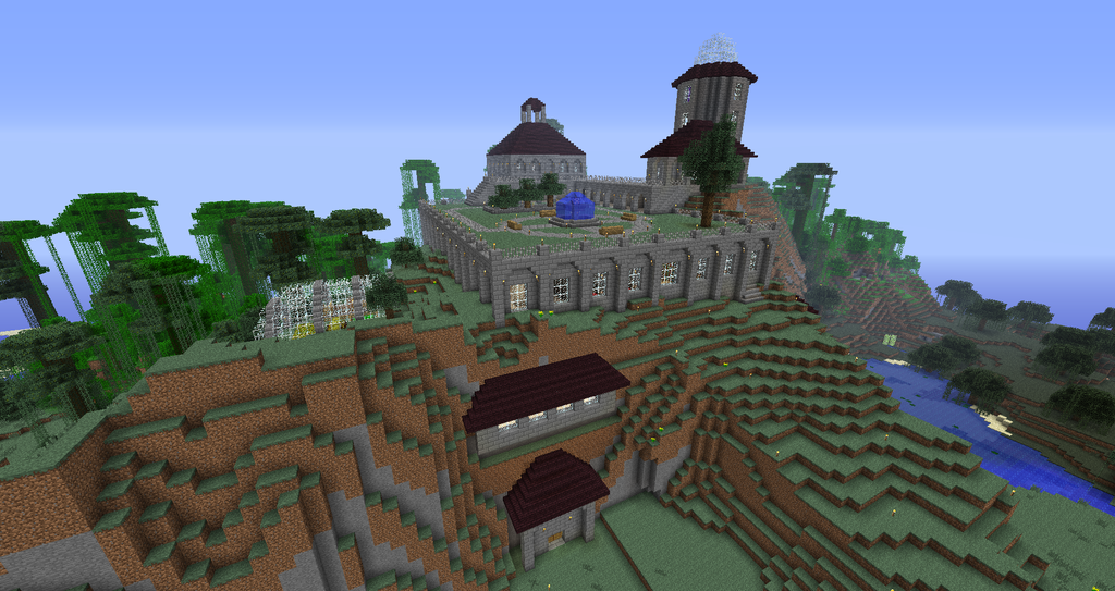 A castle very near to the world spawn, offering safety to new players, along with every convenience they might need, and a central station where all of the World Gates return to.