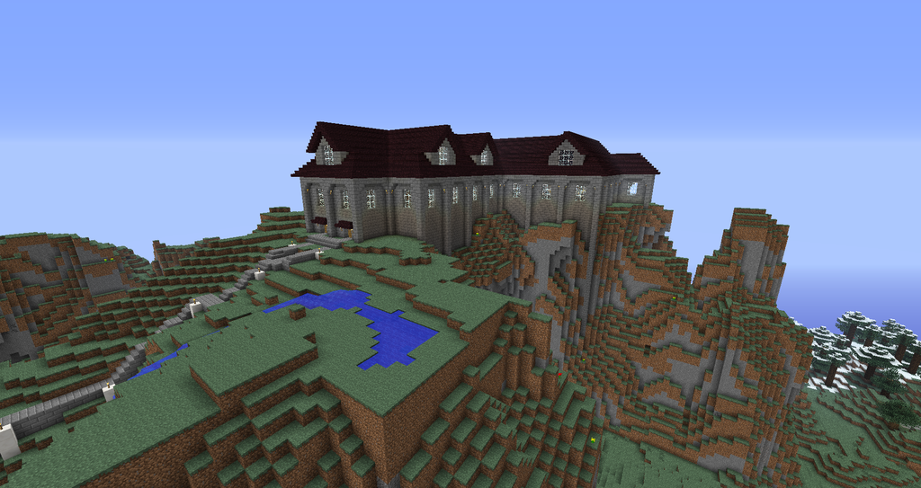 """The """"Admin Castle"""" itself. The inside contains a bunch of complex commands rigged to single button pushes."""