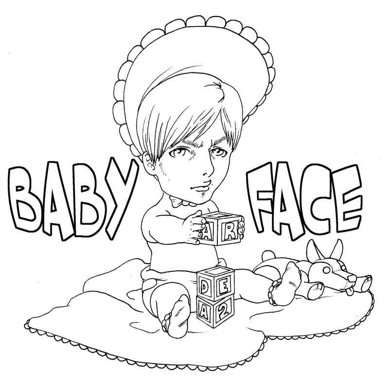 Baby Face Leon Coloring Page lineart
