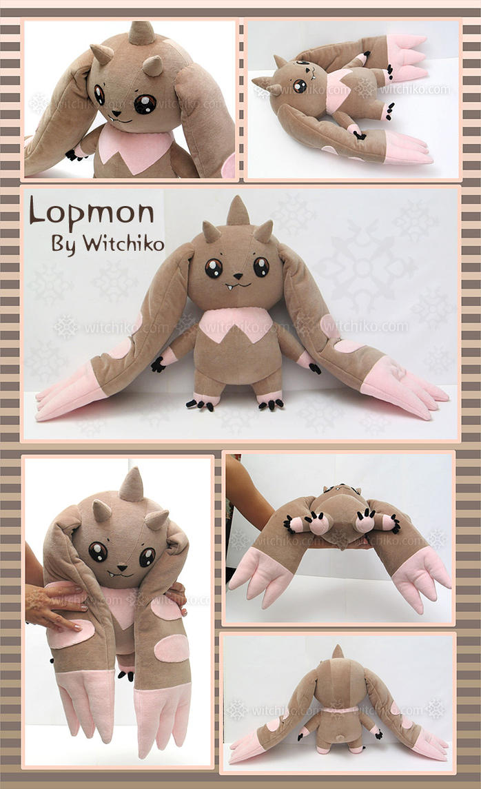 Lopmon:::::Digimon by Witchiko