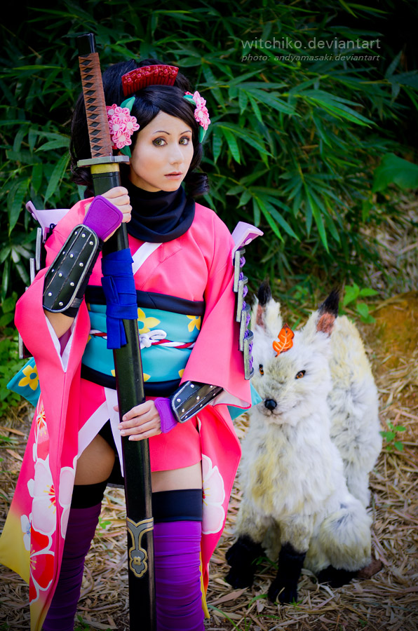Momohime and Kongiku fox:::::: by Witchiko