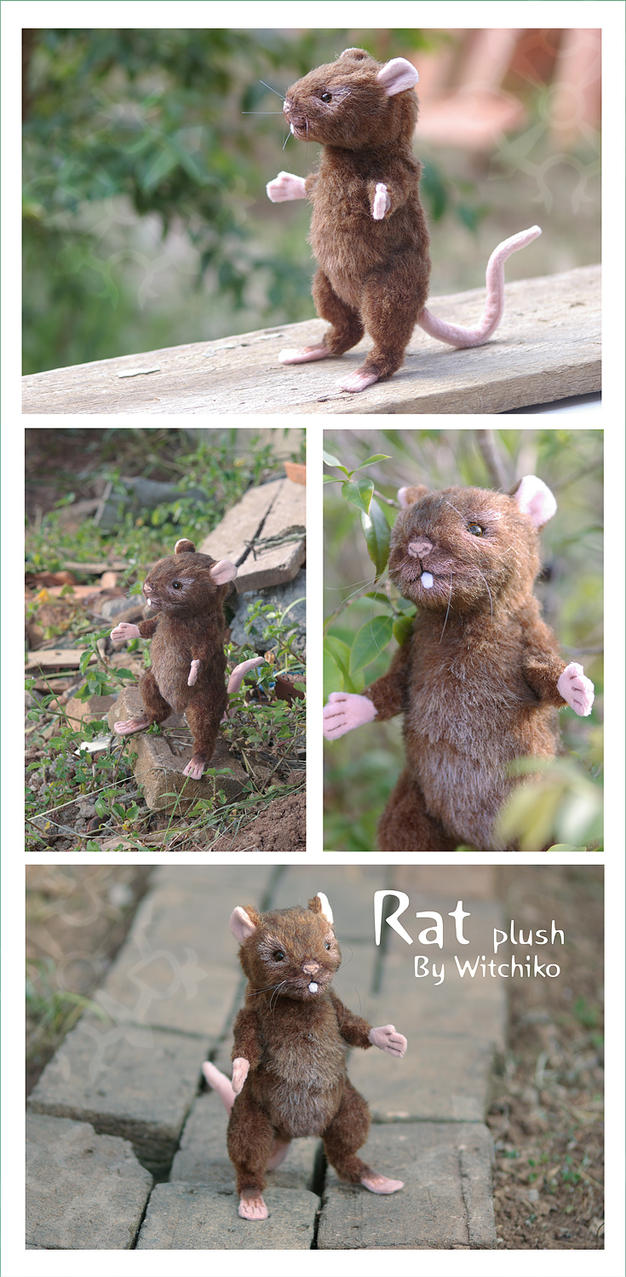 Rat Plush::::::::: by Witchiko
