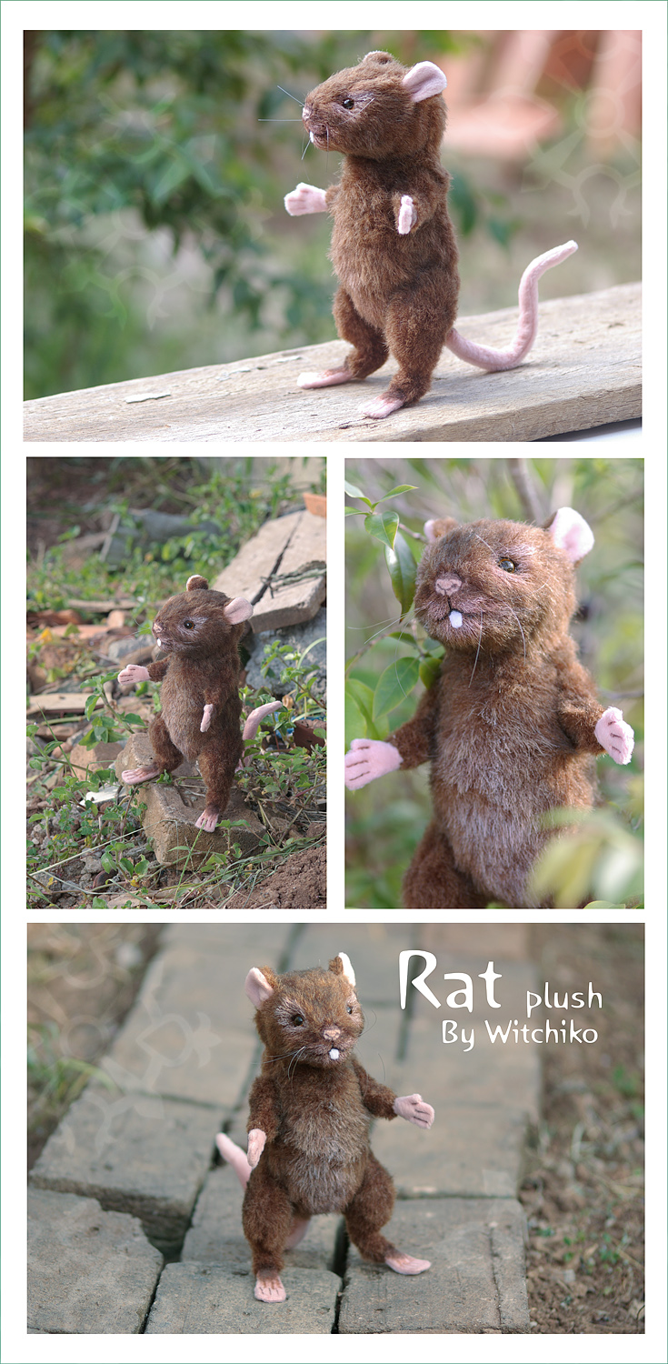 Rat Plush::::::::: by Witchiko
