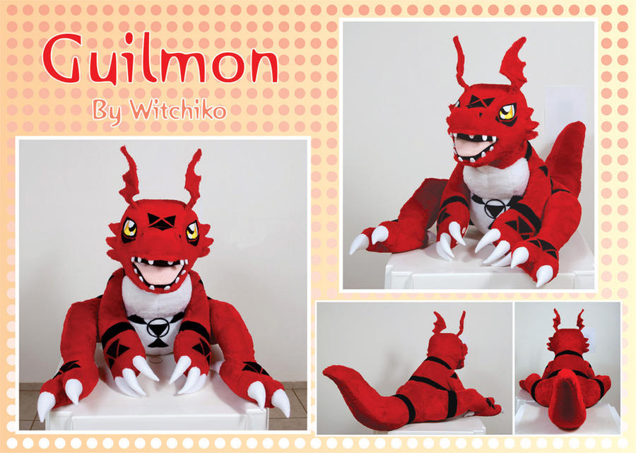 Guilmon Plush:::::: by Witchiko