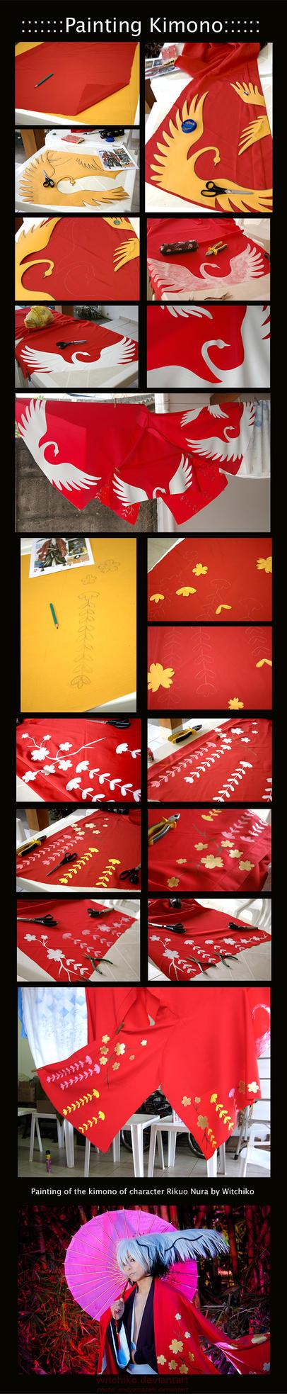 Painting the kimono:::::: by Witchiko