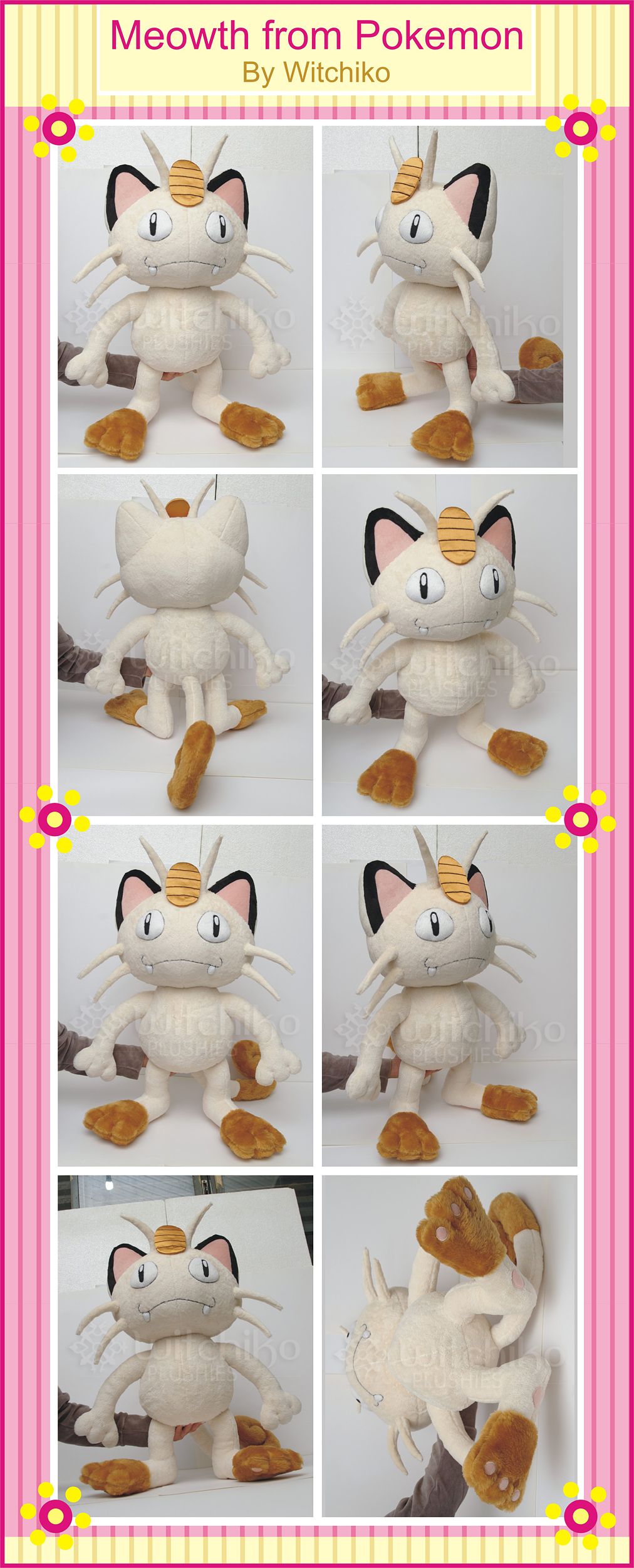 Meowth Plush by Witchiko