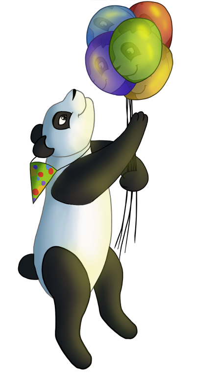 panda with balloons by felinemyth on deviantart