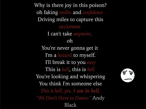 Lyric Quote by DarkMelodies26