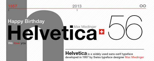 Helvetica's Birthday (56 years) by SynthDesign