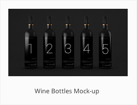 Wine Bottles Mock-up Bottles Mockup Black Design by SynthDesign