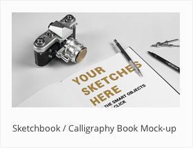 Sketchbook Calligraphy Book Mock-up Mockup Letteri