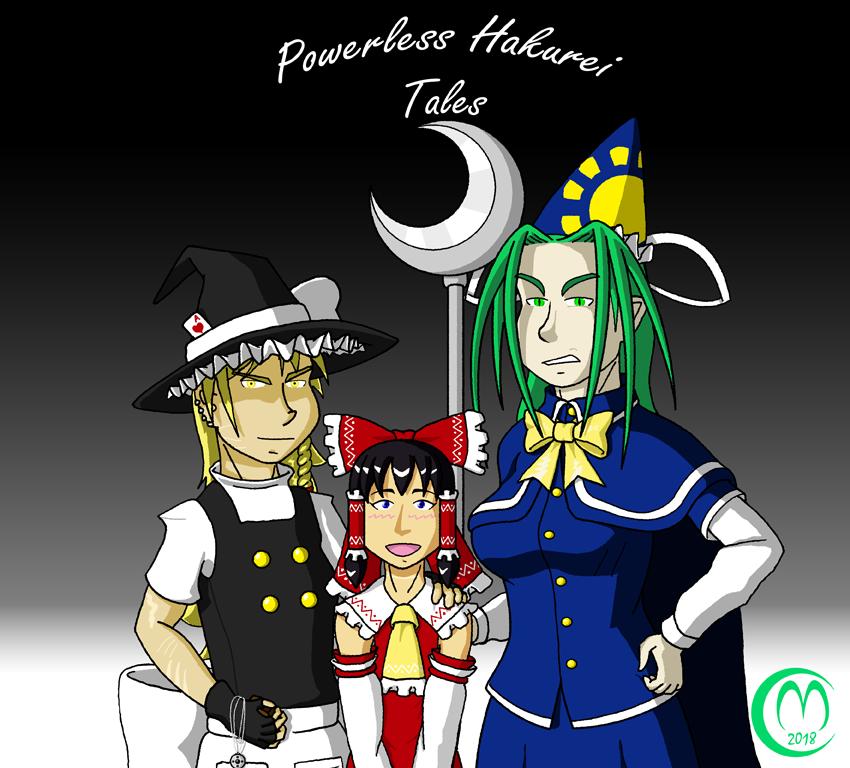 Powerless Hakurei Tales Promo Art by Carmichael-Micaalus