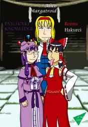Reimu, Patchouli, y Alice