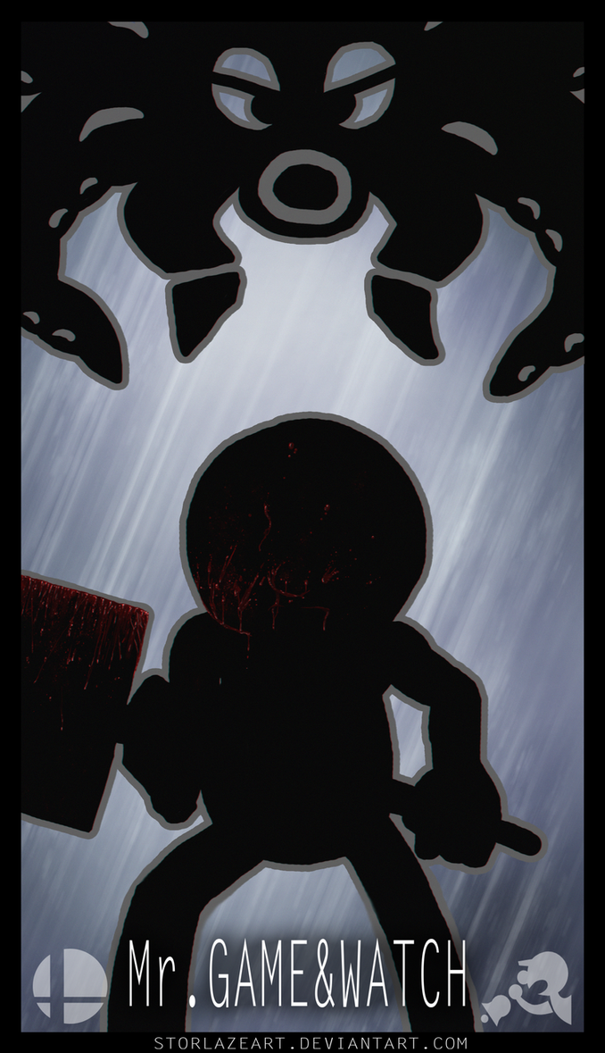 Smash Brothers : Mr Game and Watch by StorlazeArt