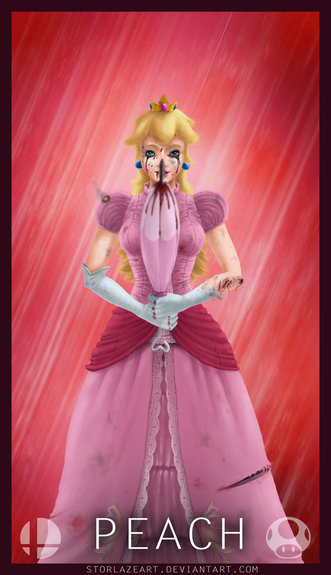 Smash Brothers : Peach by StorlazeArt