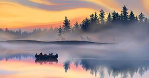 misty sunset (+video)