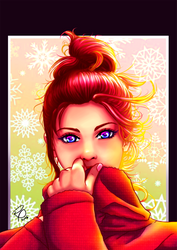 Winter Girl by ryster17