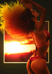 Girl of Sunset by ryster17