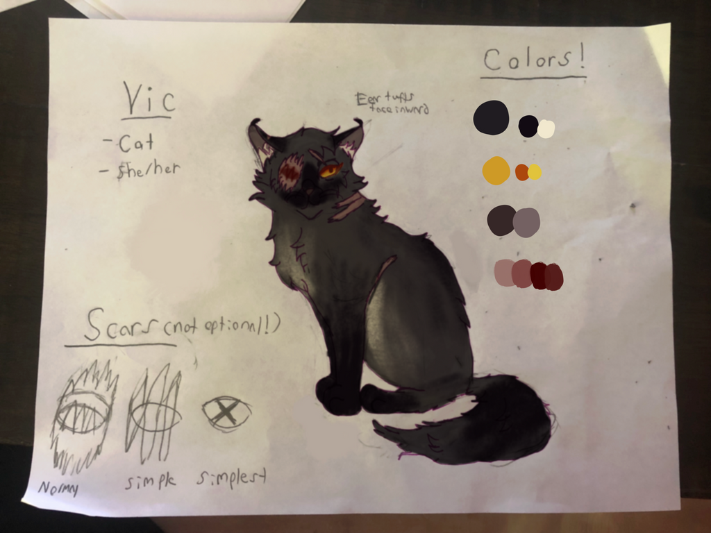 Vic- new ref sheet by Legally-Vic