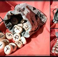 Elder futhark rune set -birch- by mruqe