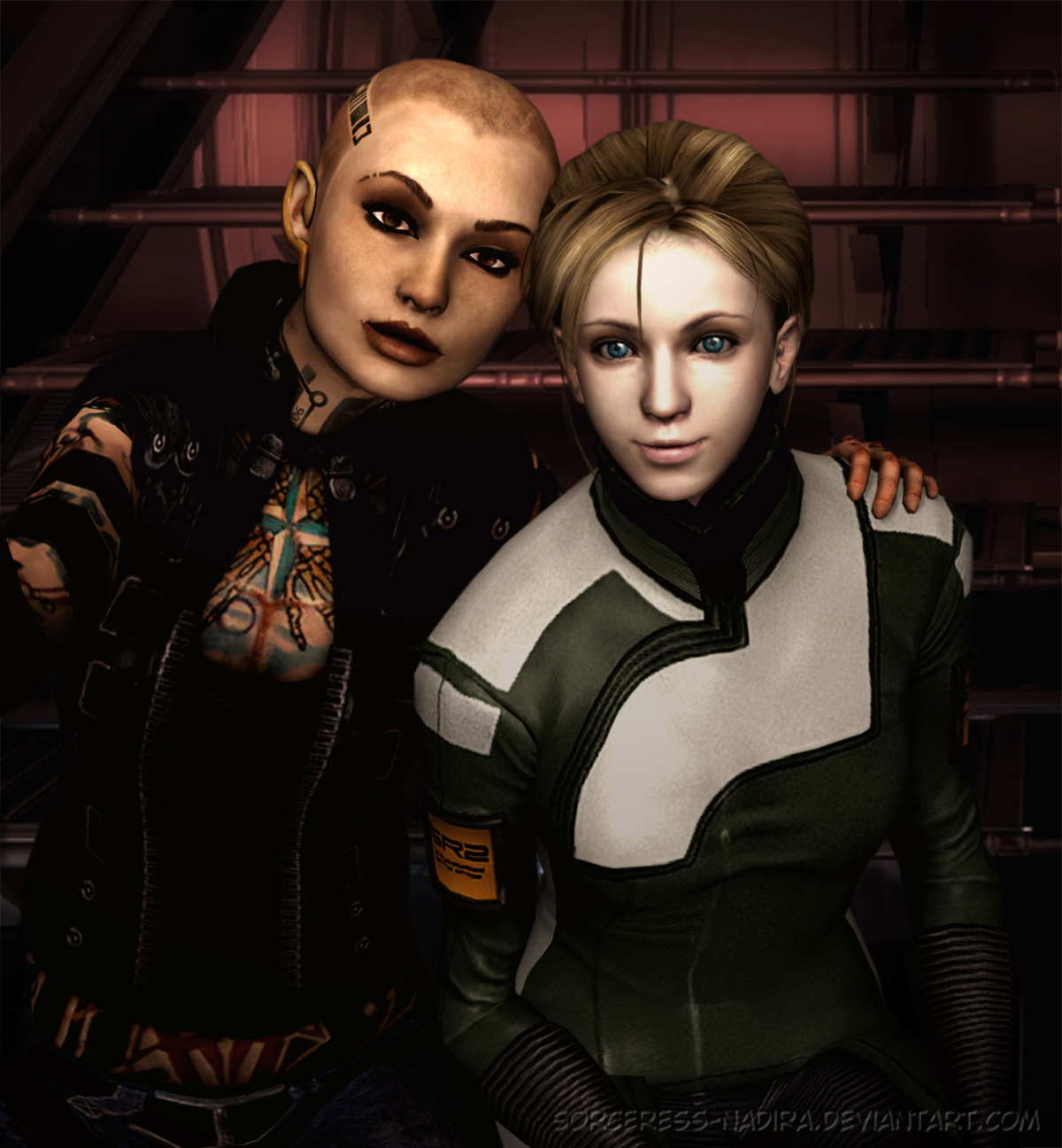 Biotic sisters by Sorceress-Nadira