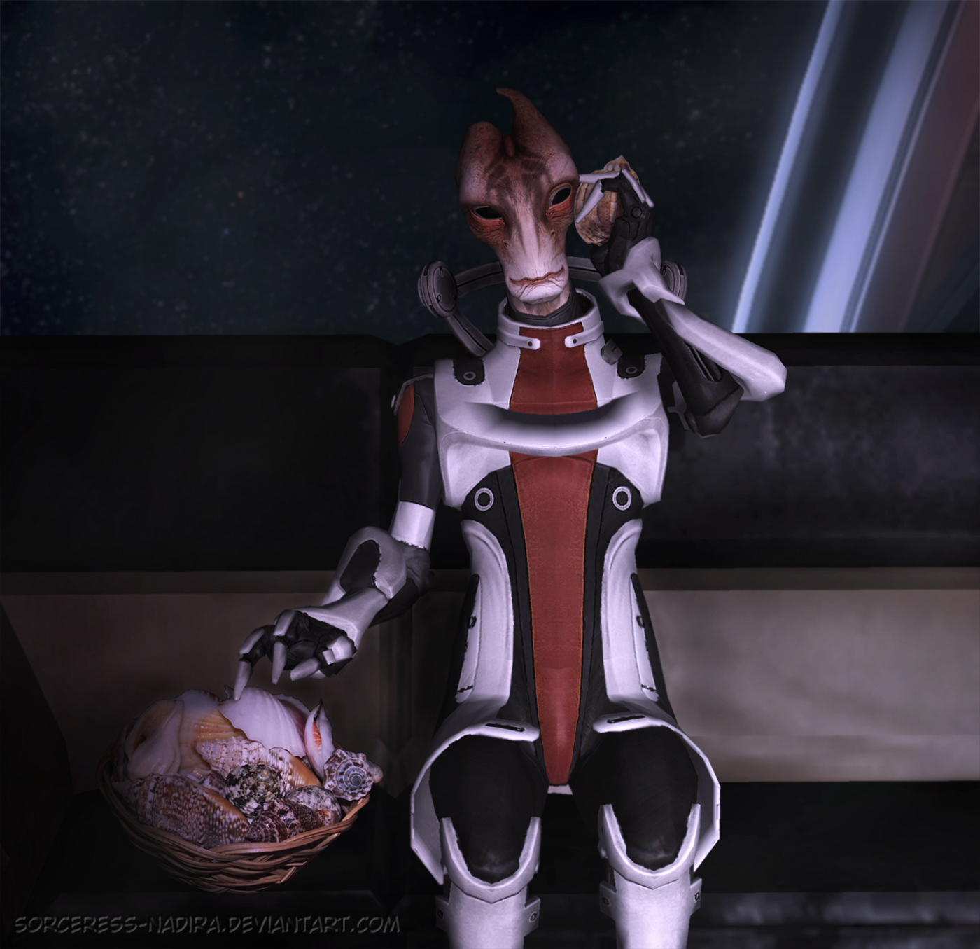 The sofa series - Mordin and seashells by Sorceress-Nadira