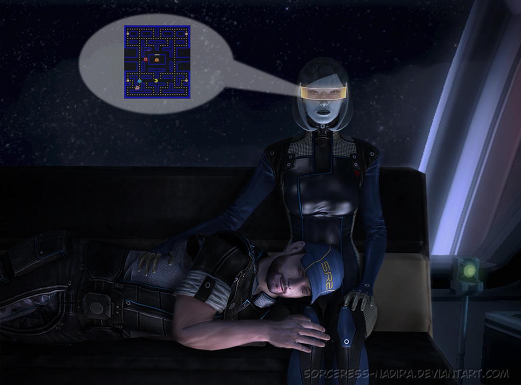 The sofa series - EDI and Joker by Sorceress-Nadira