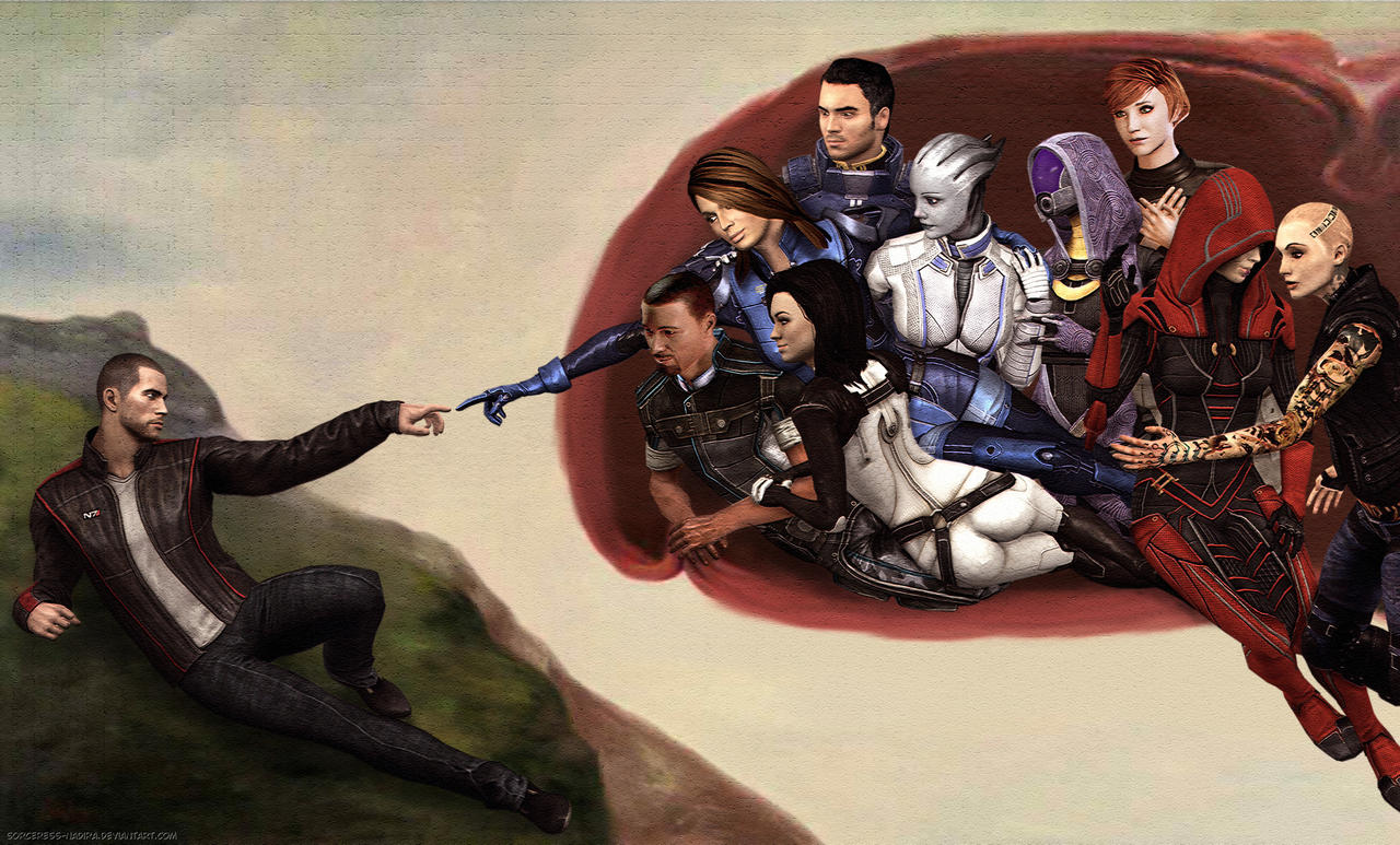 Creation of John Shepard by Sorceress-Nadira