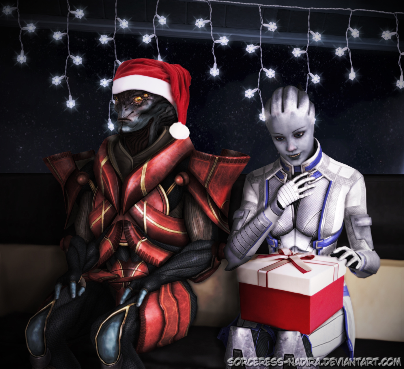 Christmas sofa - T'sovik by Sorceress-Nadira