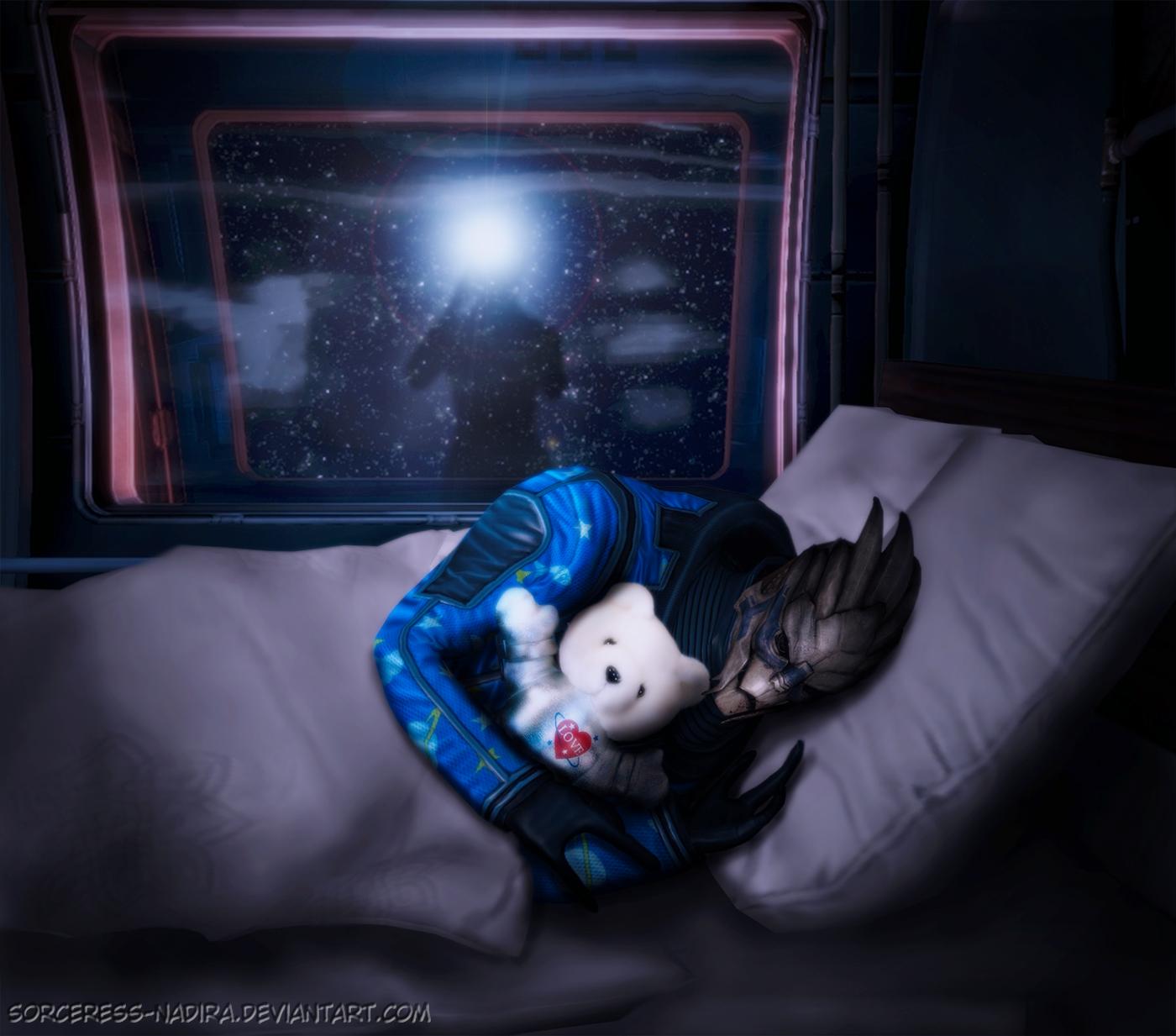 Sweet dreams, Garrus by Sorceress-Nadira