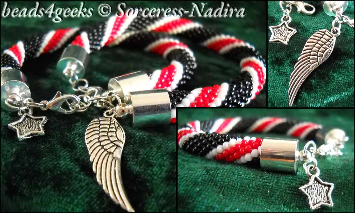 N7 pattern beaded bracelets by Sorceress-Nadira