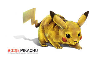 Realistic Pikachu by TheK40